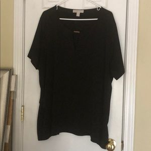 Michael Kors black short sleeve top